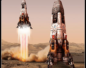 MARS Rocket spaceship 3D model
