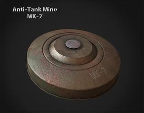 Anti-Tank Land Mine MK-7 3D model