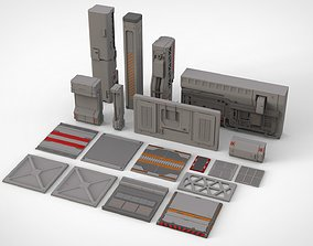 sci-fi Architecture kitbash 24 3D model