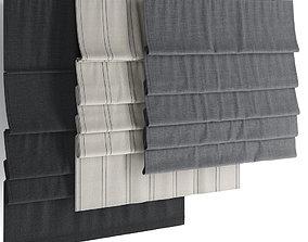 3D Roman blinds set 13