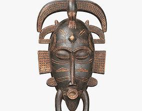African masks Senufo Bird 3D asset