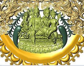 durga shiv god temple jewelry 3D printable model