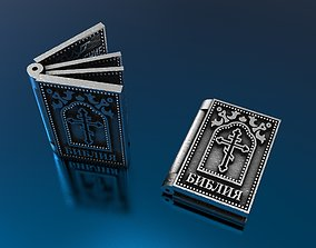 3D printable model Bible Book Pendant Silver