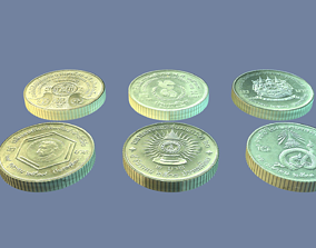 Thailand coin - set model - 4 3D