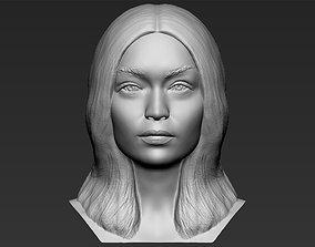 Gigi Hadid bust 3D printing ready stl obj formats