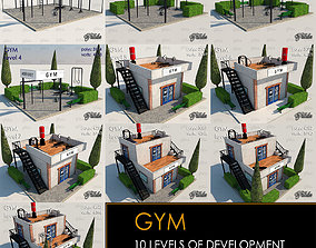 3D model GYM all 10 Leves