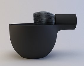 Angle Brush and Bowl 3D asset