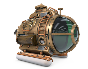 Steampunk Submarine 3D model