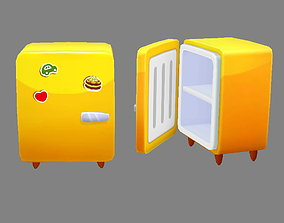 3D asset Cartoon small refrigerator