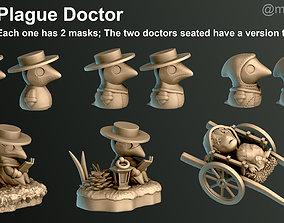 Plague Doctor 3D printable model dark