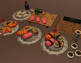 Sushi Pack 3D asset