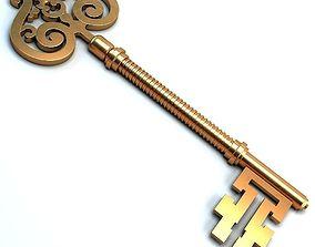 3D model Golden key