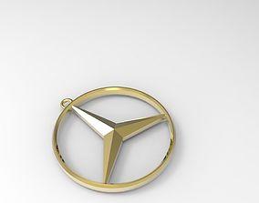 Mercedes-Benz keychain necklace 3D printable model