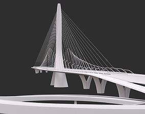 Zaha Hadid Architects Danjiang Bridge in Taiwan 3D model