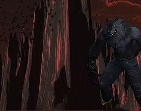 Werewolf 3D asset