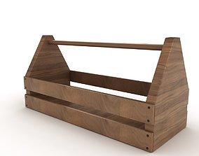 Wooden Toolbox garage 3D model