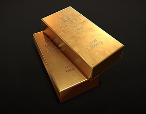 Gold Bar 3D asset