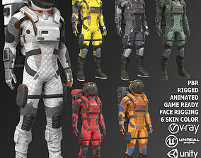 MX02 Male Space Suit 3D model
