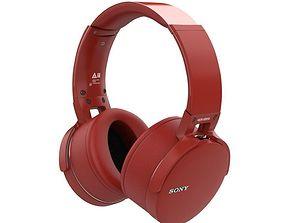 SONY MDR XB950BT BLUETOOTH HEADPHONES RED 3D