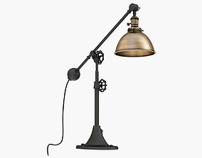 RH INDUSTRIAL ERA TASK LAMP ANTIQUE BRASS 3D