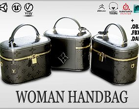 Woman Handbag Louis Vuitton 3D model realtime