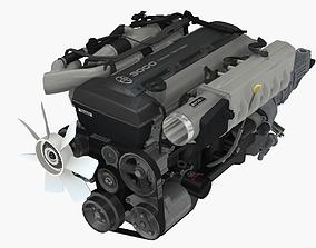 Toyota 2JZ GTE engine 3D model