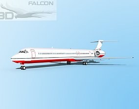 rigged Falcon3D MD-80 Corporate 4