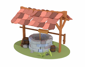 Wishing Well - Stone Well - Vintage Well VR / AR ready 2