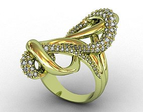 gold jewel Diamond Ring 3D print model