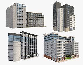 3D 4 Buildings Set 1