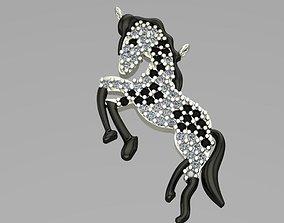 horse pendant 43 3D print model