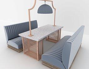 3D restaurant Booth