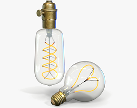 3D Edison Light Bulb