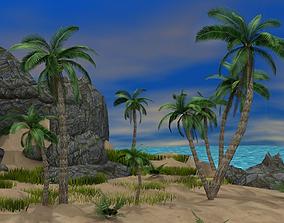 Tropical Island 3D model realtime