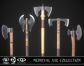 3D model PBR Medieval Axe Collection