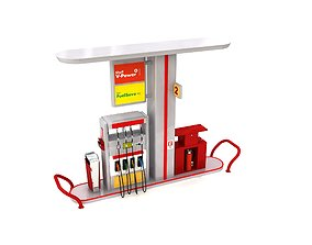 3D model Petrol Gas Station Pump - 1