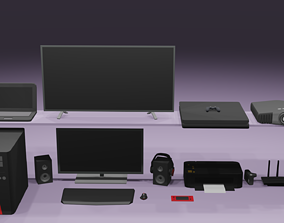 Low Poly Electronic pack 3D model
