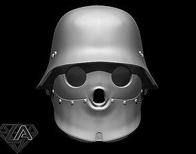 3D print model Wolfenstein blackguard helmet