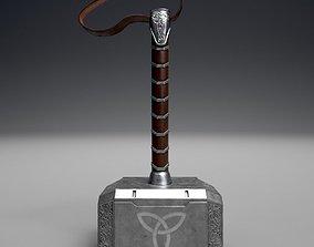 Mjolnir 3D model low-poly