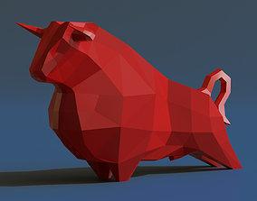 3D asset Bull sculpture