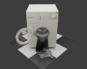 Washing Machine for laundry or laundromat wash 3D model 1