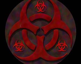 3D biohazard tripple sign or symbol