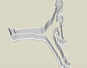 3D printable model Jordan Jumpman logo cookie and fondant