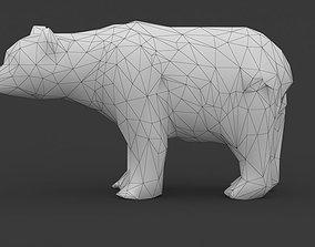 Low Poly Bear 3D asset