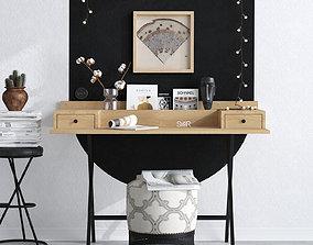 HOME OFFICE ROOM CORONA SCENE 03 3D model