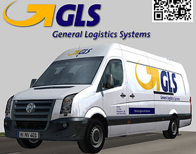 Volkswagen GLS parcel delivery bus 3D asset