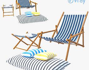 outdoor sling chair 3D model