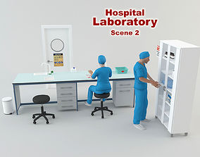 3D model animated Hospital Laboratory - Scene 2