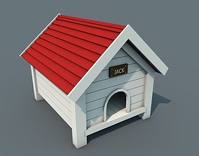 Low Poly Doghouse 3D asset