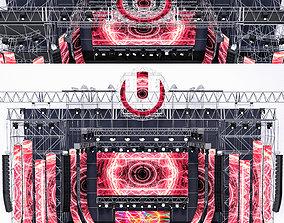 EDM Concert Stage 3D model